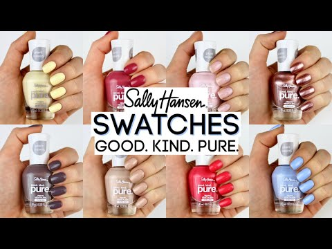 NEW Good. Kind. Pure. SALLY HANSEN FULL COLLECTION SWATCHES (22 SHADES)