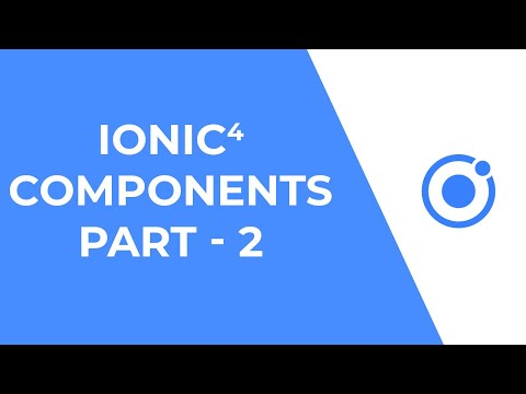 Ionic 4 UI Components - Part 2