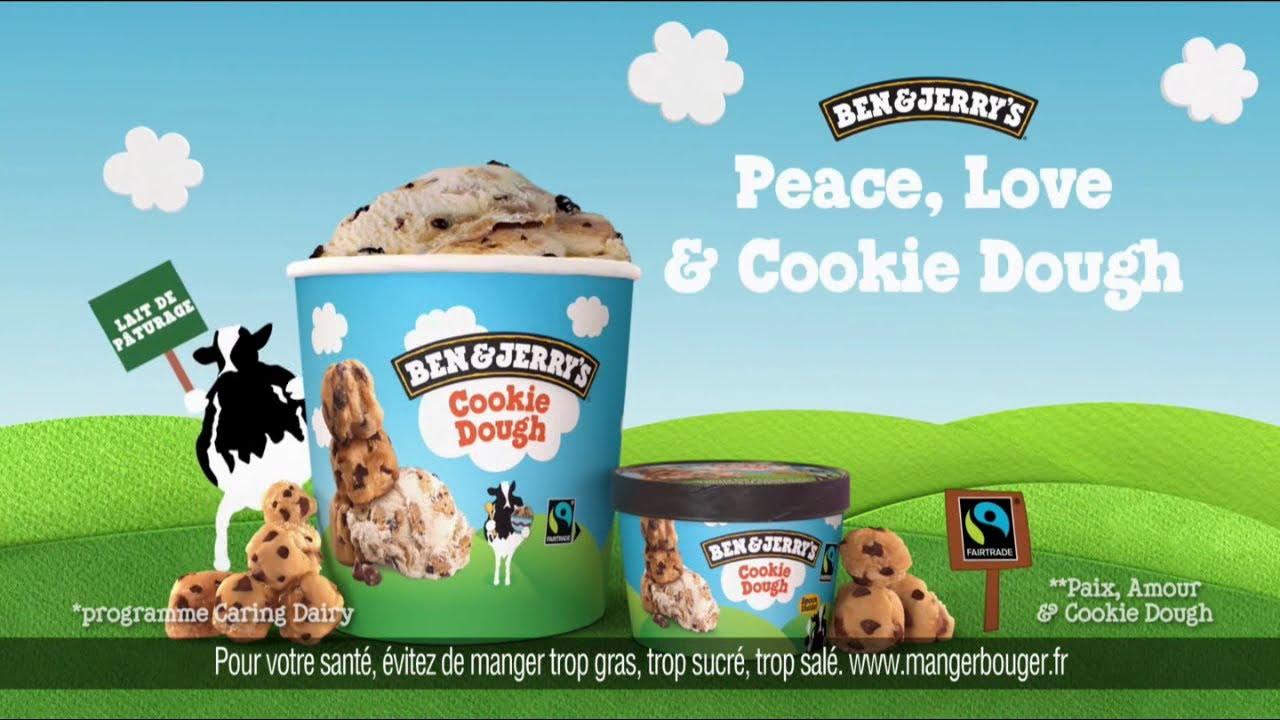 """Musique de la pub Cookie Dough Ben & Jerry's """"peace love and cookie dough""""  2021"""