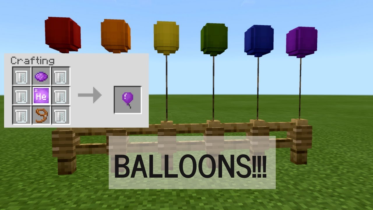 HOW TO MAKE BALLOONS IN MINECRAFT!!!! (NO MODS) - YouTube