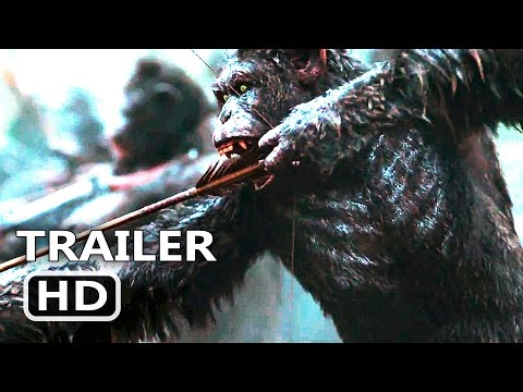 WAR FOR THE PLANET OF THE APES Official Trailer (2017) Woody Harrelson Action Blockbuster Movie HD