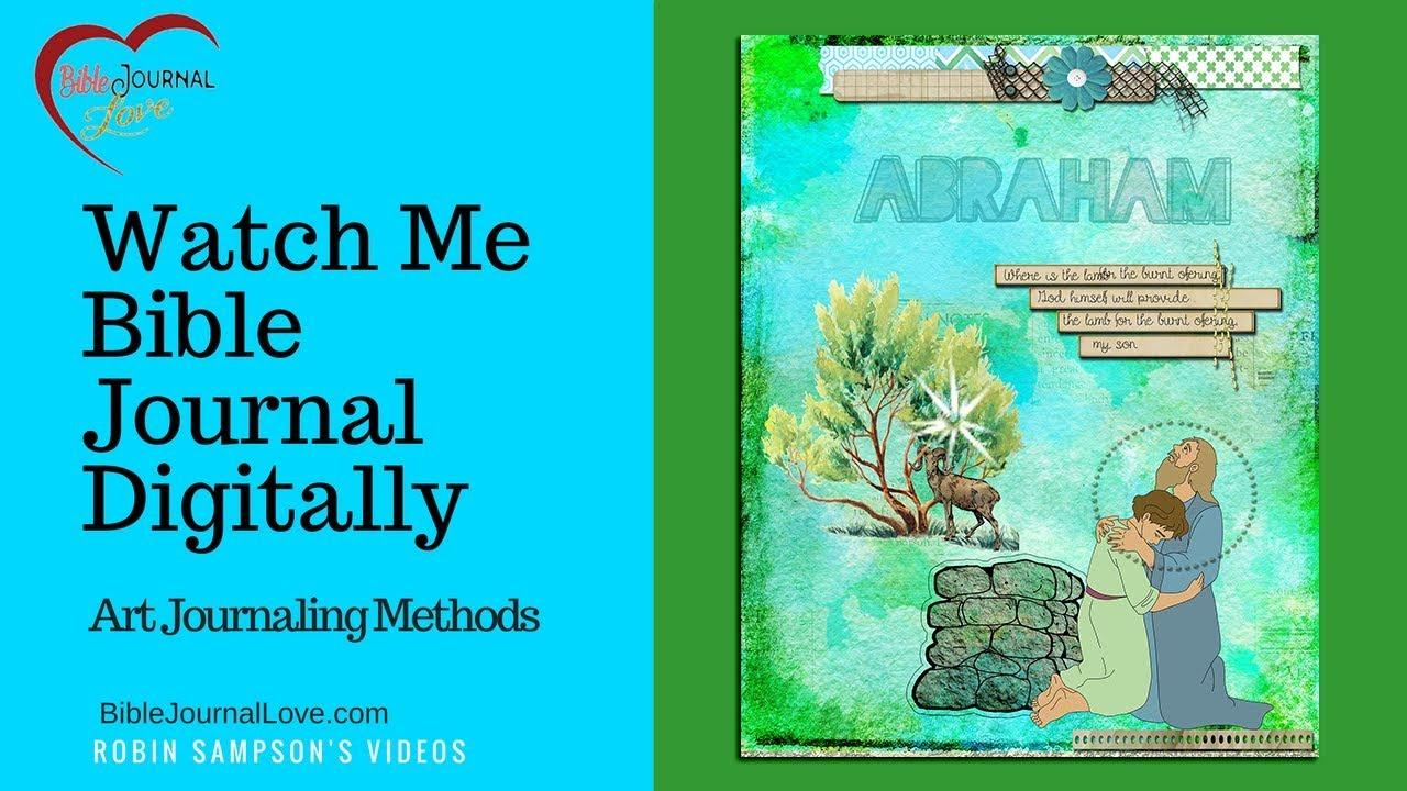 Bible Journaling Digitally With Art Journaling Methods