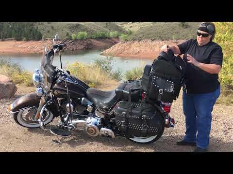 2013 Harley-Davidson Softail Heritage Motorcycle Sissy Bar Bag Review - Vikingbags.com