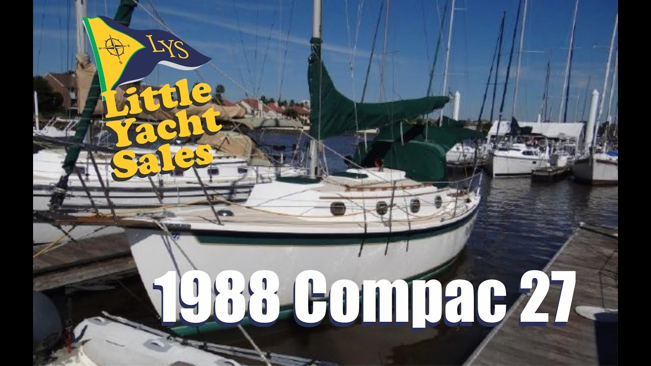 SOLD!!! 1988 Compac 27 Sailboat for Sale at Little Yacht Sales, Kemah Texas