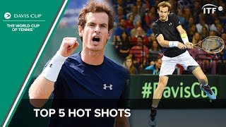 Andy Murray's Top 5 Shots | Davis Cup 2015/16