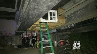 Homeless Person's Tiny, Makeshift Loft Ordered To Be Dismantled