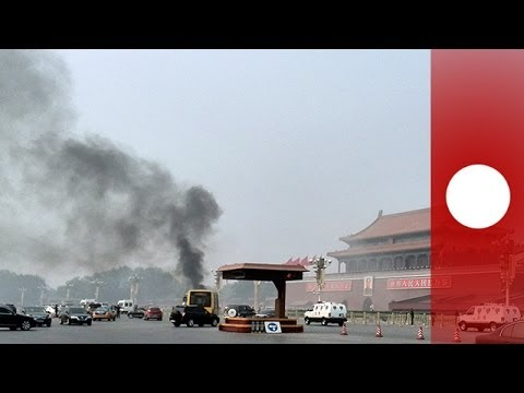 Was Tiananmen Square car fire a suicide attack? (3D crash reconstruction)