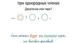 Учебный фильм по русскому языку, обобщающие слова при однородных членах