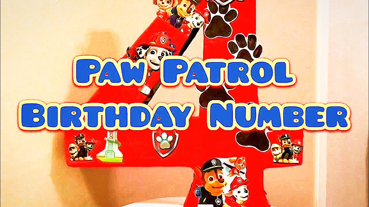 Birthday Decoration Using PawPatrol Merchandise