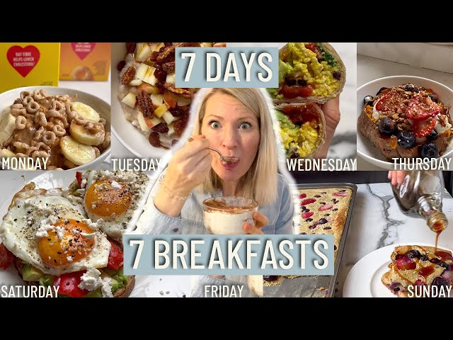What a Dietitian Eats in a Week for the Best Meal of the Day (Easy Healthy Breakfast Ideas)