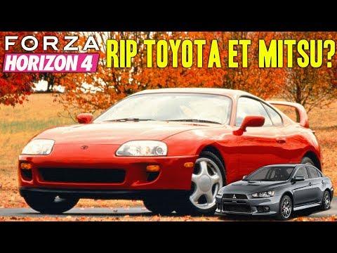 Forza Horizon 4 : Toyota Supra et Mitshubishi Lancer ? Pourquoi Leurs Absences