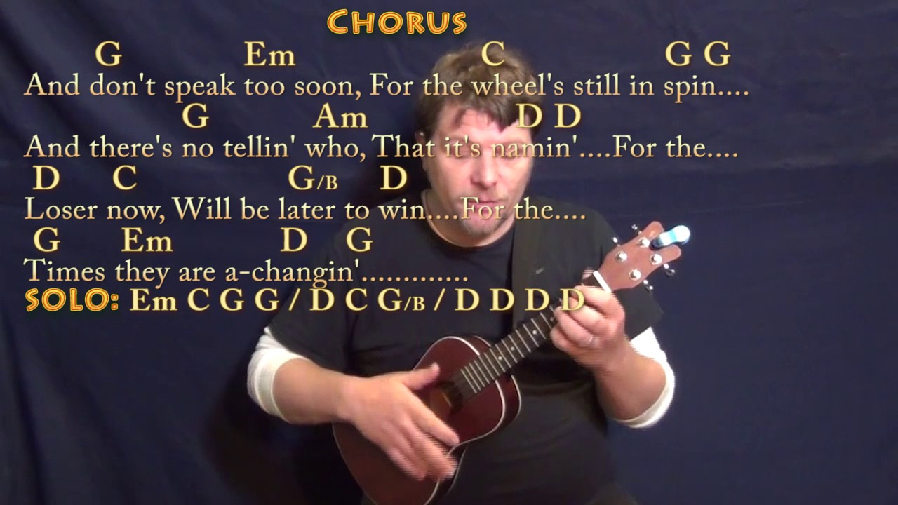 The times they are a changin bob dylan ukulele cover lesson the times they are a changin bob dylan ukulele cover lesson with chords lyrics hexwebz Images