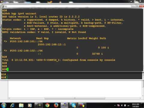 6 July   IPv6 Part 4 BGP, IPv6 Access list, IPv4 over IPv6 Tunneling, NAT PT Protocol Translation