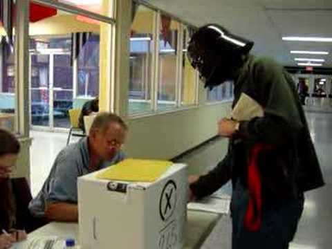 Darth Vader Votes in 2007 Ontario Election
