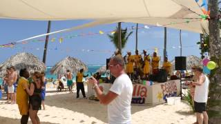 Iberostar Punta Cana - Beach Paella party and beach bar 4K HD