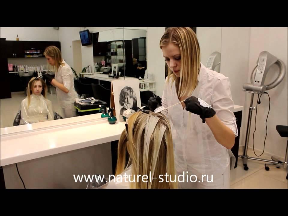 Видео уроки брондирование волос