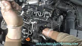 VW Sharan 7N 2.0tdi oil service - how to change oil and filter, reset service light