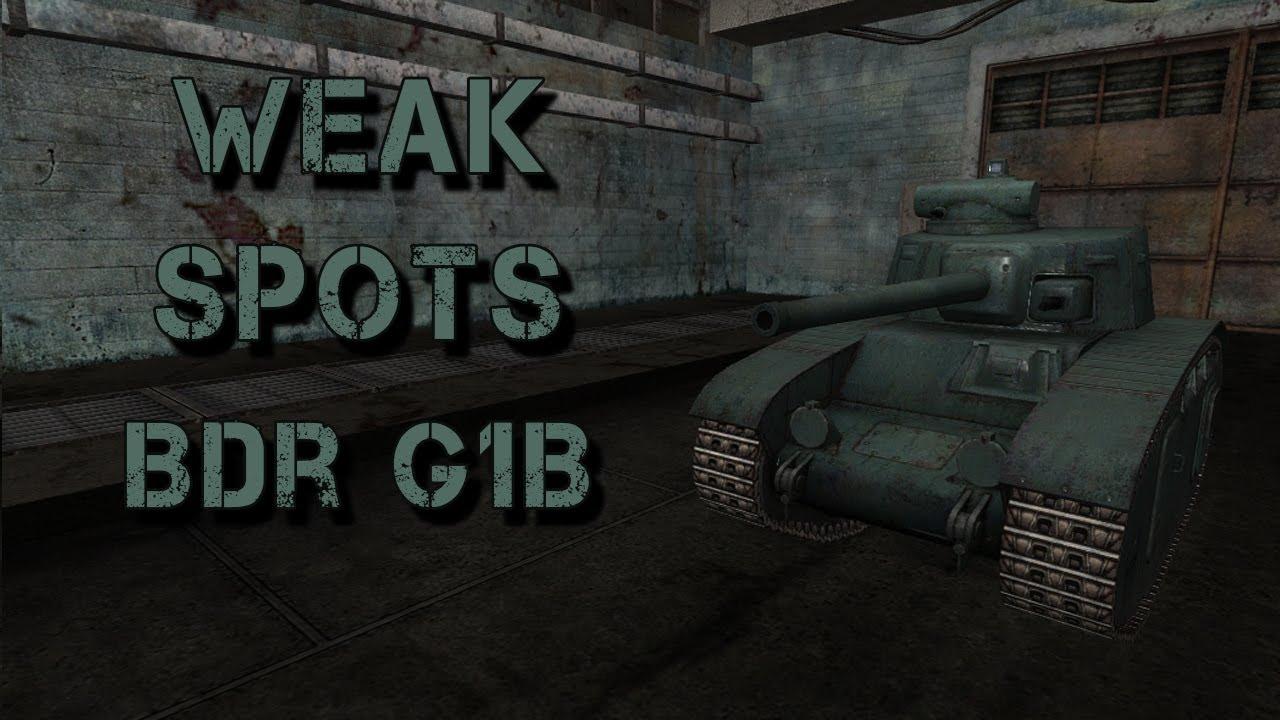 wot bdr g1b weak spots