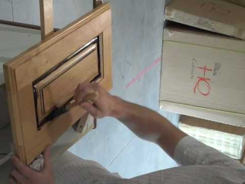 How to Glaze Kitchen Cabinets - YouTube