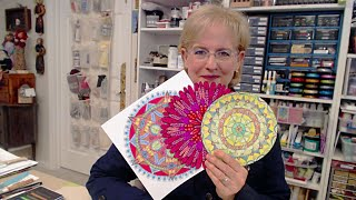 Tips 'n Tricks: Drawing a Mandala With Bowls Plates Cups - HowToGetCreative.com with Barb Owen