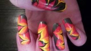 fire flame water marble nail art design tutorial using collection 2000 barrym ciate hd video
