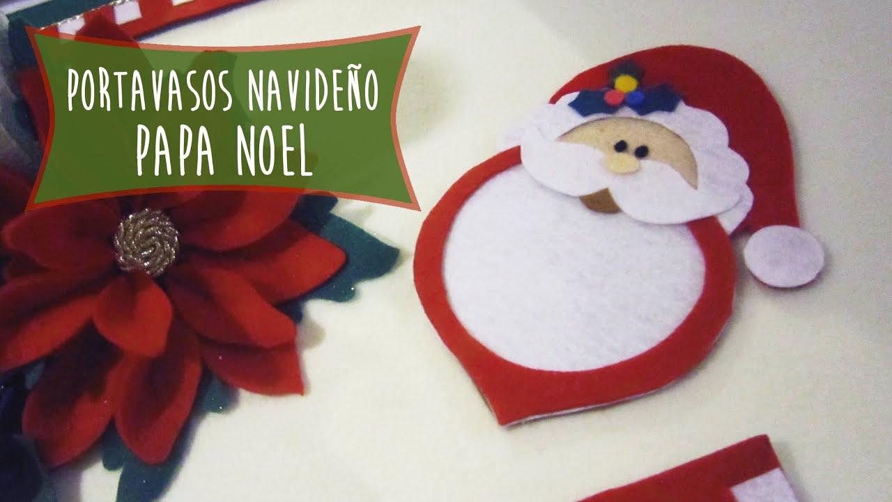 Papa noel portavasos navide o ideas para decorar tu mesa - Ideas para decorar en navidad ...
