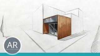 Architekturskizzen. Eine der schönsten Kollorationstechniken. Architektur zeichnen lernen.