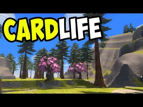 CardLife (Steam Version) - Open-world Survival in a Cardboard World! - CardLife Gameplay