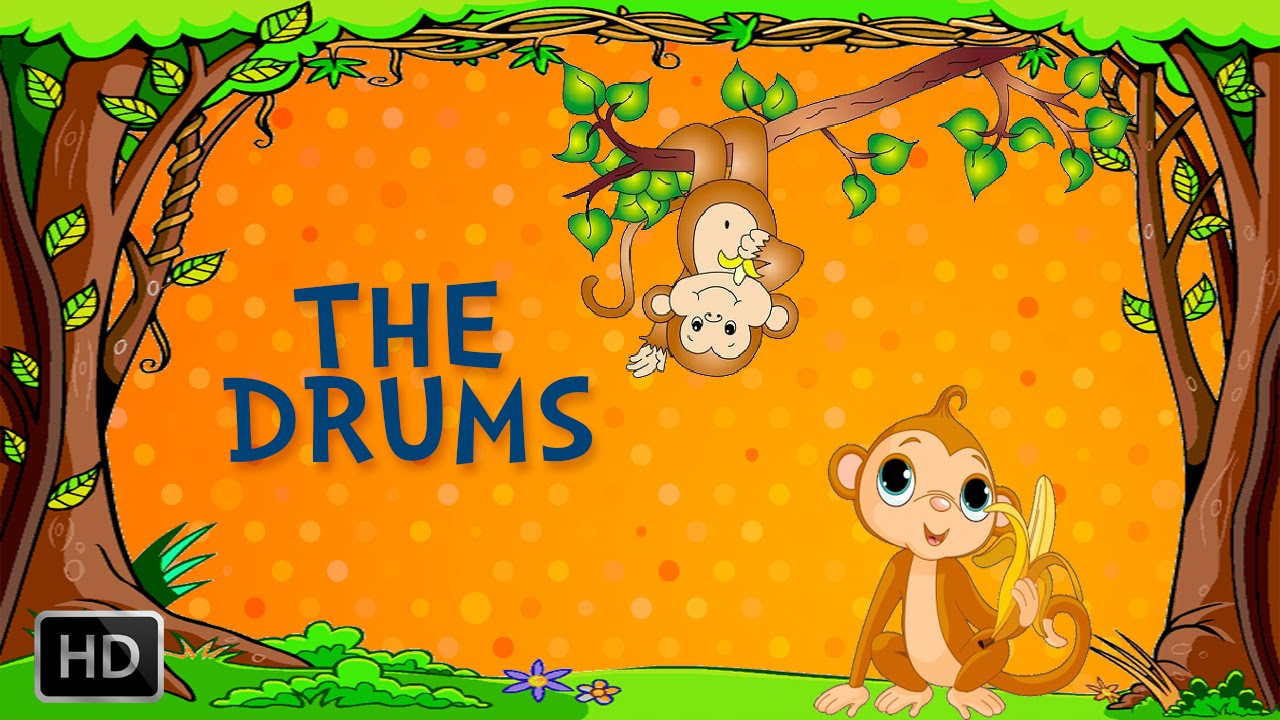 Jataka Tales - Monkey Stories - The Drums - Moral Stories for Kids
