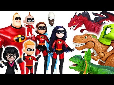 The witch has appeared with dinosaurs! The Incredibles 2 giant mask deluxe! Go! - DuDuPopTOY