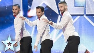 Yanis Marshall, Arnaud and Mehdi in their high heels spice up the stage | Britain's Got Talent 2014