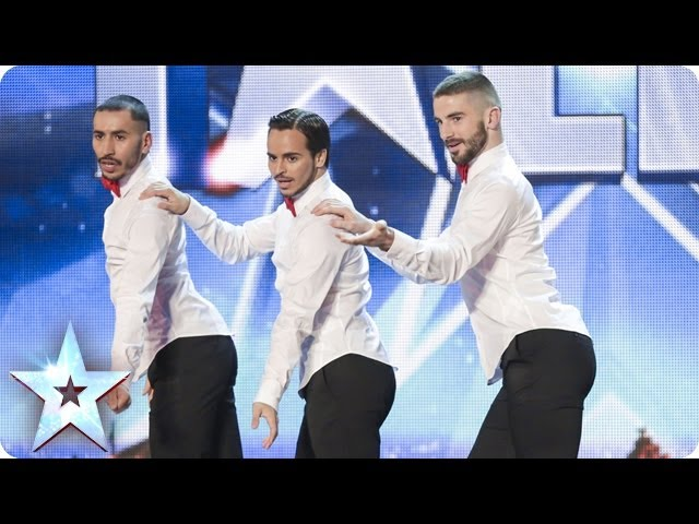 Yanis Marshall, Arnaud and Mehdi in their high heels spice up the stage | Britains Got Talent 2014