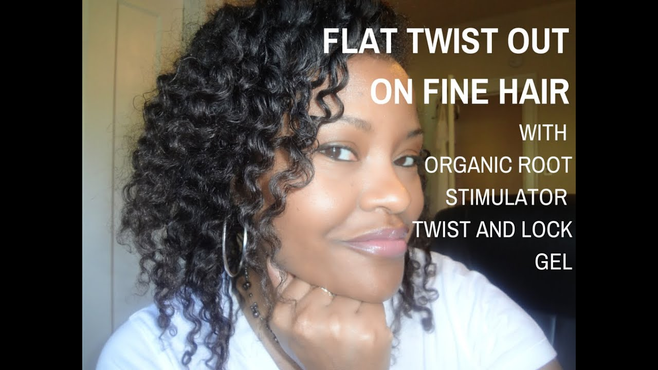 Super Textured Flat Twist Out On Fine Natural Hair 3c 4a