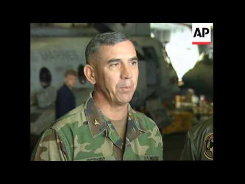 ADRIATIC: US PILOT SHOT DOWN OVER BOSNIA RESCUE MISSION