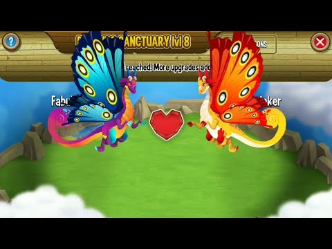 BEAUTIFUL BREEDING BUTTERFLY DRAGON WITH SUMMERFLY DRAGON | DRAGON CITY
