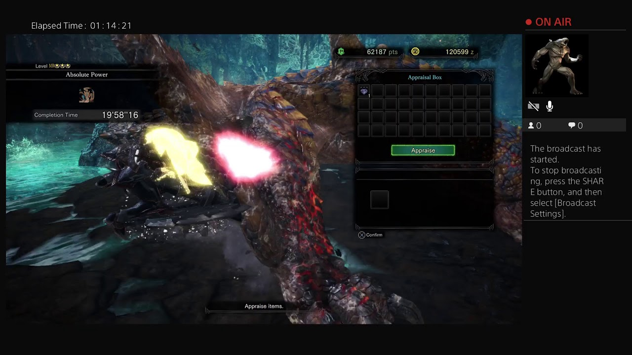 Fabo soloing tigrex, 2nd attempt lol