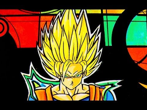 Dibujando y Pintando Goku super saiyan  / Drawing and Painting of Goku super saiyan Videos De Viajes