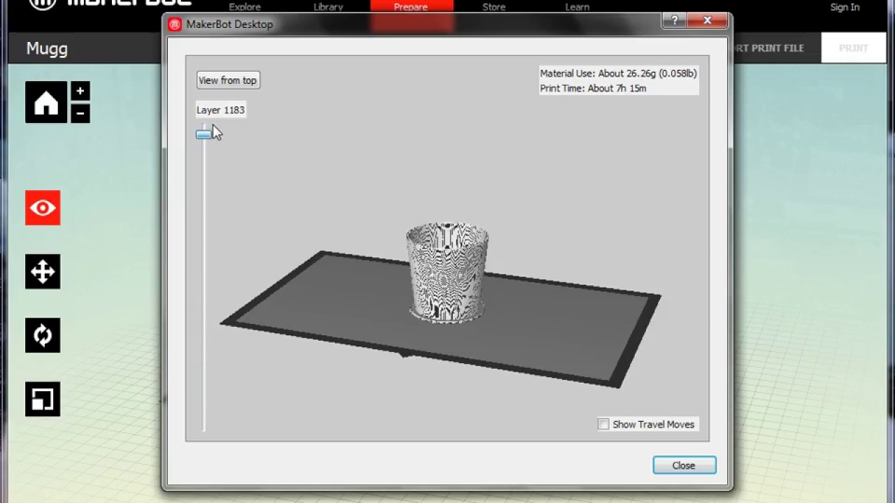 Tutorial, how to print a SolidWorks file into a Makerbot Replicator 2  3D-printer!