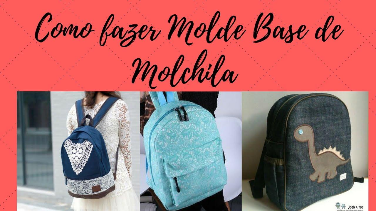 como fazer molde de mochila - YouTube f318a6623337e