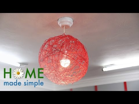 The Ultra Modern Hanging Lamps You Can Make With A Ball of Yarn | Home Made Simple | OWN