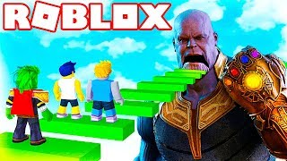 AVENGERS: ENDGAME OBBY IN ROBLOX 😱 ESCAPE FROM THANOS