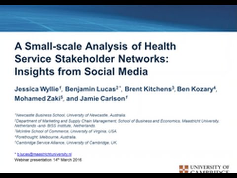 A Small-scale Analysis of Health Service Stakeholder Networks: Insights from Social Media