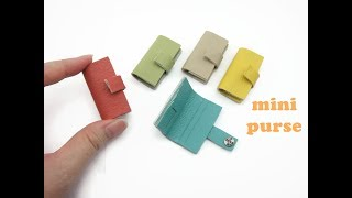 DIY Miniature Doll Mini Long Purse Wallet Bag - Easy!