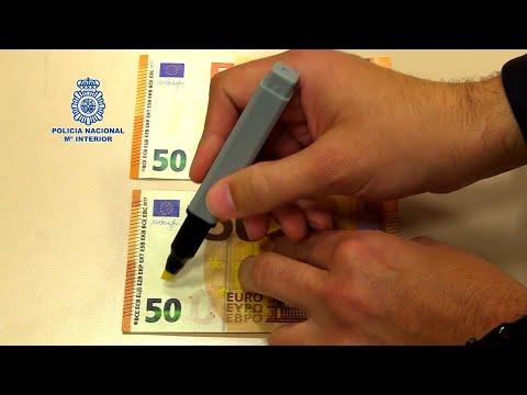 Policía avisa de que rotulador detector billetes falsos no siempre es efectivo