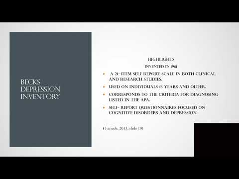BDI II powerpoint presentation from YouTube · Duration:  17 minutes 44 seconds