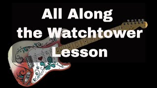 Guitar Lesson - All Along the Watchtower Guitar Solo Note for Note