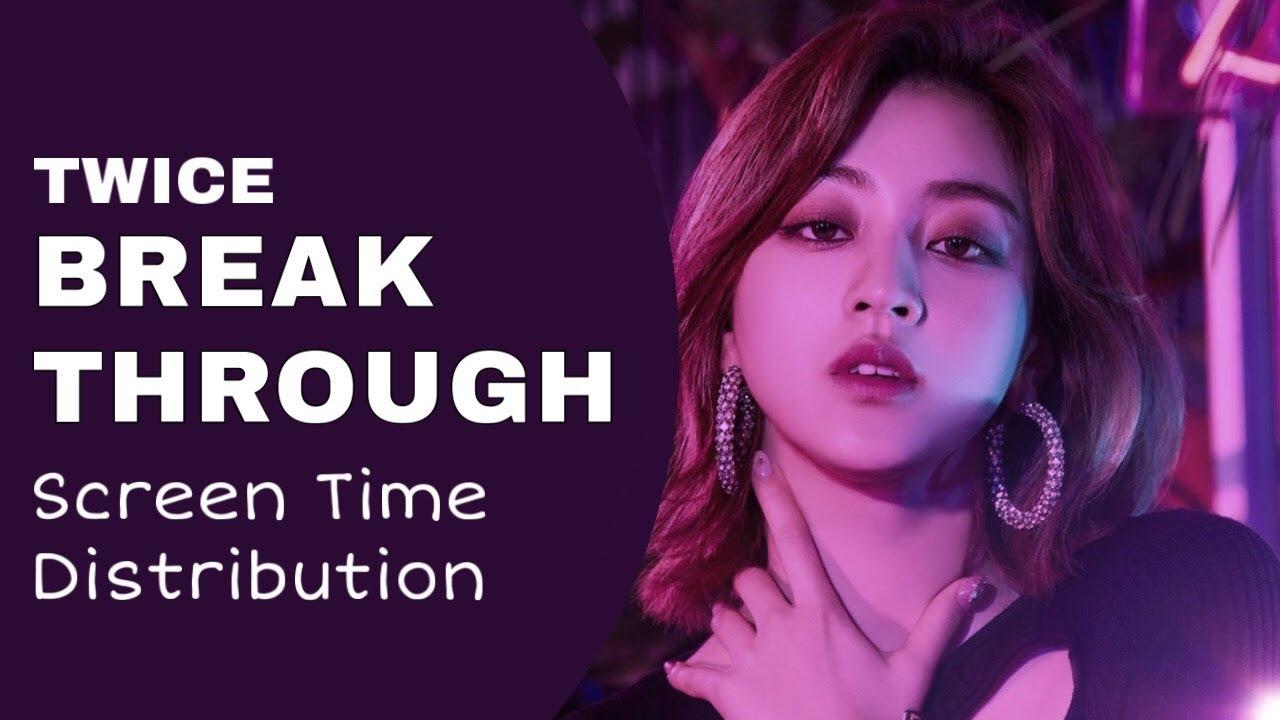 Twice - Breakthrough   Screen Time Distribution