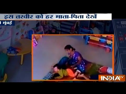 CCTV VIDEO: Child Brutally Beaten by his Play School Caretaker in Navi Mumbai