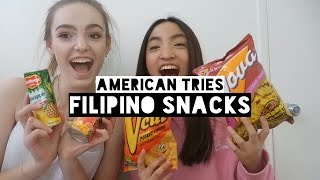 TRYING FILIPINO SNACKS w/ Doina | Nicole Kirsten