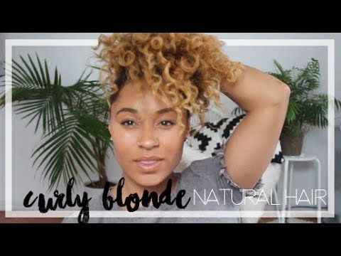 Curly Blonde Ombré/ Balayage Natural Hair Update